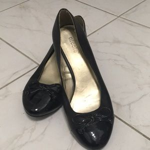 Nicole vegan and patent leather slippers